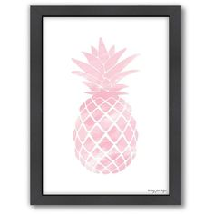 Americanflat Watercolor Pineapple Framed Wall Art, Multi/None (495 SEK) ❤ liked on Polyvore featuring home, home decor, wall art, art, decor, extras, filler, backgrounds, watercolor wall art and fruit wall art