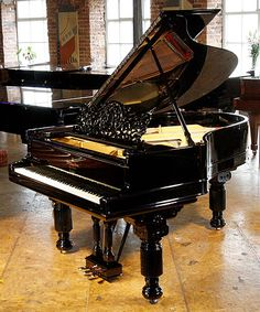 An 1978, antique Steinway Model A grand piano with a black case. by Besbrode Pianos Leeds, via Flickr