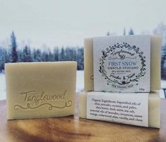 Tanglewood Organic Soap - First Snow Gentle Avocado Soap - $9.