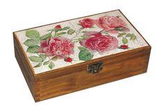 Wooden box. Storage box.Treasury box. Rose. by DecoupageMargaret