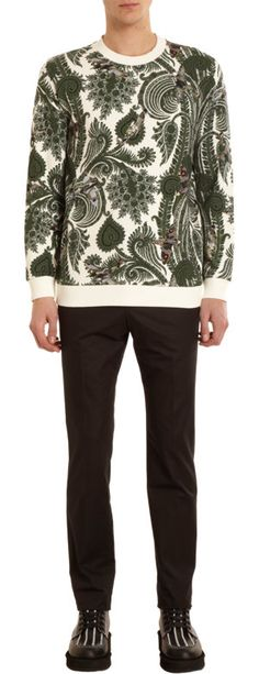 Givenchy Decorative Plant Print Sweatshirt... This is Love!