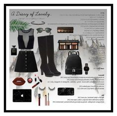 """#nightout"" by littlegreekstylist on Polyvore featuring Donald J Pliner, Miss Selfridge, Varley, NARS Cosmetics, Lime Crime, Kat Von D, Nika, MICHAEL Michael Kors, Ray-Ban and Chanel"