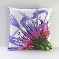 Botanical Art Print Pillow Mountain Cornflower by GardenTherapy, $120.00