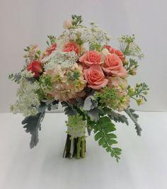 1000 images about coral orange bridal bouquets on pinterest nancy dell 39 olio bridal. Black Bedroom Furniture Sets. Home Design Ideas