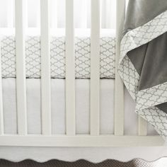 Scalloped White Crib
