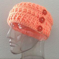 Handmade Accessories - Handmade peach adjustable headband / ear warmer