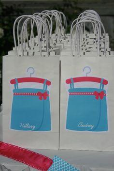 Cute spa favor bags