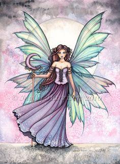 Fairy Print Spring Dream Fairy Print 9 x 12 by MollyHarrisonArt, via Etsy.