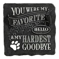 You Were My Favorite Hello and My Hardest Goodbye Plaque Black Stepping Stone Grasslands Road http://www.amazon.com/dp/B00TXS43NK/ref=cm_sw_r_pi_dp_LOzdvb07PPZEQ