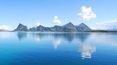 Steigen. Norway Arctic Circle, Lofoten, Landscape Photos, Planet Earth, Norway, Travel Destinations, Sunrise, Waterfall, Scenery