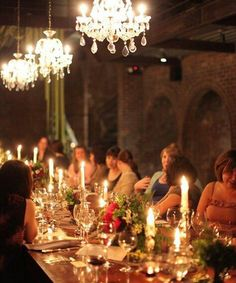 Chandeliers! -tailored events