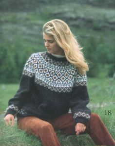 Pullover Lett-Lopi 18/16 Jumper Knitting Pattern, Fair Isle Knitting Patterns, Chunky Knitting Patterns, Quirky Fashion, Colorful Fashion, Icelandic Sweaters, Nordic Sweater, Clothing Patterns, Knit Crochet