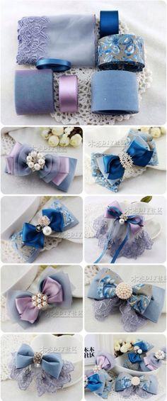 66 Ideas For Diy Baby Headbands Ribbon Hair Bow Tutorial Diy Baby Headbands, Diy Hair Bows, Ribbon Hair Bows, Diy Headband, Diy Ribbon, Ribbon Crafts, Diy Hair Accessories Ribbon, Diy Accessories, Blue Ribbon