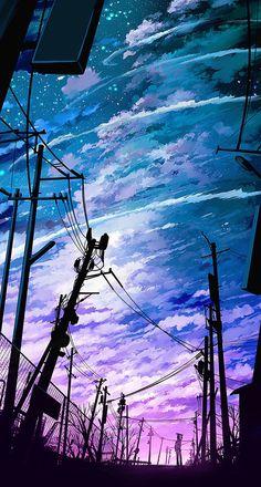Pin by sandai kitetsu on anime scenery fondos, arte paisajes Scenery Wallpaper, Galaxy Wallpaper, Cool Phone Wallpapers, Unique Wallpaper, Wallpaper Art, Mobile Wallpaper, Fantasy Landscape, Landscape Art, Fantasy Kunst