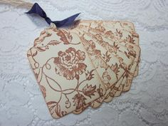 Stamped Gift Tags  Wedding Favor Tag Beautiful Vintage by wkburden, $4.99
