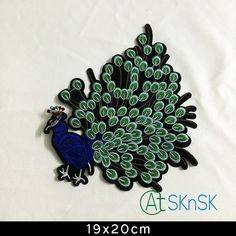 DIY wholesale Good look peacock badges stickers iron on patches embroidered patches for clothes DHL Cheap Patches, Iron On Patches, Iron On Embroidered Patches, How To Iron Clothes, Clothing Patches, Badges, Peacock, Sewing Crafts, Arts And Crafts