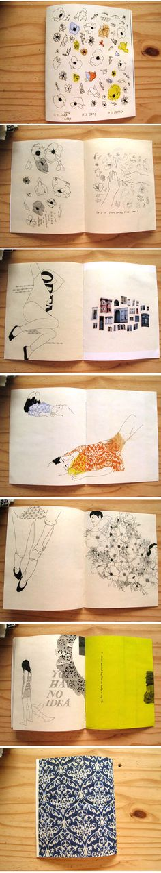 Mia Nolting sketchbooks, found at The Jealous Curator /// curated contemporary art ///