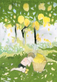 lemon (檸檬) by yuki kitazumi Fun Illustration, Character Illustration, Japanese Illustration, Enchanted Tree, Collage Drawing, Illustrations And Posters, Best Artist, Great Artists, Art Lessons