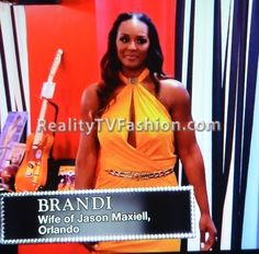 "Brandi Maxiell's Yellow Halter Gown on ""Basketball Wives L.A."""