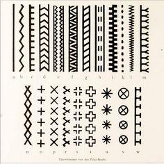 Palauan tatoo designs, Joest, 1887. [via http://instagram.com/tattoohistorian
