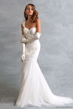 eliza jane howell vintage style weddng ava one shoulder mermaid gown, Bridal Collection, bride, bridal, wedding, noiva, عروس, زفاف, novia, sposa, כלה, abiti da sposa, vestidos de novia, vestidos de noiva, boda, casemento, mariage, matrimonio, wedding dress, wedding gown.