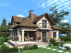 Ideas for home and garden decor, design and DIY projects! Two Story House Design, House Front Design, Modern Cottage, Classic House, Home Living, Simple House, Home Fashion, Exterior Design, Modern Architecture
