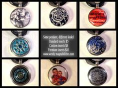 Same pendant and necklace - $24 Then choose the insert that fits you!