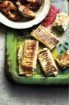 Caucasian Barbecue Flatbreads: This cheesy flatbread recipe from Olia Hercules makes great barbecue food.