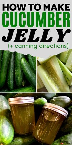 Looking for a new way to preserve cucumbers that's not pickles? Try making cucumber jelly! This cucumber jelly uses fresh cucumbers and tastes similar to sweet pickles. It's a great way to use up extra cucumbers from the garden! Also included is water bath canning instructions for a longer shelf life