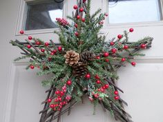 Simple But Beautiful Front Door Christmas Decoration Ideas 35 Among the easiest Christmas door decorating ideas is simply to get a few potted Christmas poinsettias and set close to […] Christmas Poinsettia, Christmas Swags, Rustic Christmas, Simple Christmas, Christmas Crafts, Christmas Ornaments, Beautiful Christmas, Christmas Ideas, House Ornaments