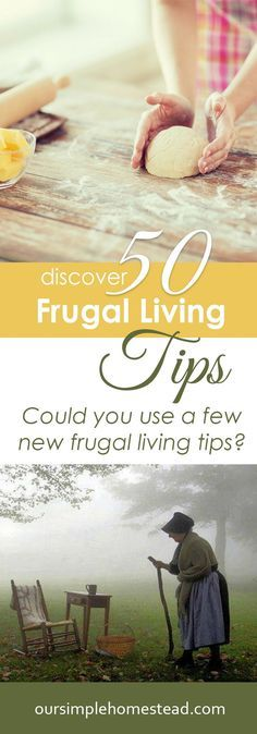 Discover 50 Frugal Living Tips - I hope you find a few things you can implement into your life to save you a little bit of money and learn how to be more frugal.