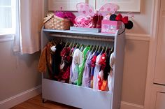 Following up on the previous post, I realized I never shared the awesome dress up storage rack that Grandma Sandy built for Chloe (although I did mention it on Facebook - I need to figure out how t...