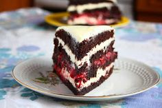collecting memories: Chocolate Layer Cake with White Chocolate Cream Cheese Frosting and Strawberry Jam