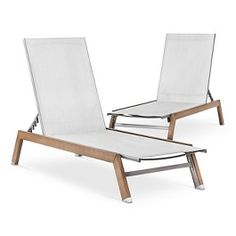 Threshold™ Bryant 2-Piece Faux Wood Patio Chaise Lounge Set