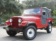 1985 CJ-7 - All Original! $12988, 4-Speed Manual, Straight 6, 77k Original Miles, Ice Cold Air!!! http://www.selectjeeps.com/inventory/view/7117933?1985+Jeep+CJ+4WD+CJ7+League+City+TX