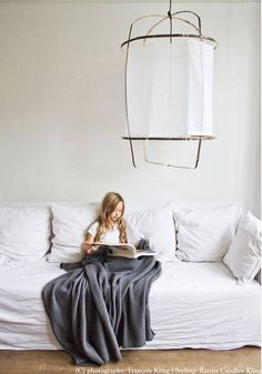 Ay Illuminate Z5 pendant lamp in bamboo and white cotton - Ø 42cm x H100cm - Ay Illuminate