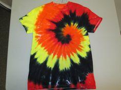 Youth Medium Tie Dye Tshirt Orange Black and by AlbanyTieDye, $18.00