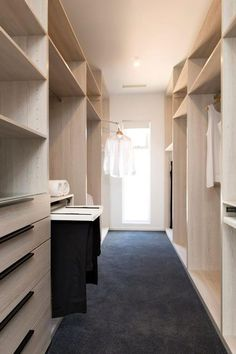 Things to consider while building walk-in robes for your home Walk-in robes or closets. Walk In Wardrobe, Bedroom With Ensuite, Spacious Closets, Wardrobe Storage, Cleaning Closet, House, Room Planning, Main Bedroom, Hanging Rail