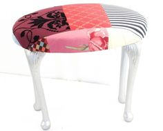 Kelly Swallow's fabulous patchwork stool.