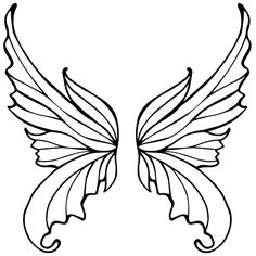 fairy wings to color fairy wings coloring page ready printed pi Fairy Wings Drawing, Fairy Drawings, Butterfly Tattoos For Women, Butterfly Art, Fairy Wing Tattoos, Tattoo Wings, Fairy Crafts, Tattoo Design Drawings, Mosaic Patterns