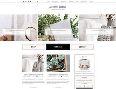 Ecommerce feminine genesis theme Aud by Lovely Confetti on @creativemarket