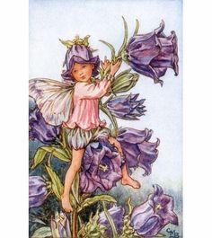 Violet Garden Fairy Vintage Wall Art
