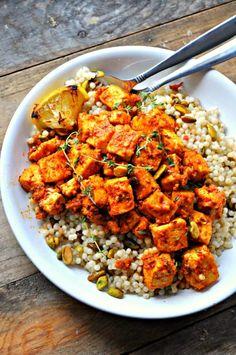 Vegan Couscous Recipes, Tofu Recipes, Vegan Foods, Vegan Dishes, Pasta Recipes, Vegetarian Recipes, Dinner Recipes, Cooking Recipes, Healthy Recipes
