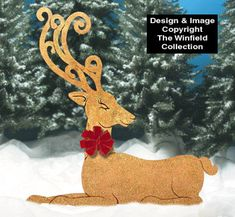 decorating wooden reindeer for yard | Give your yard a rich look this Christmas with one or more of these ...
