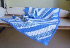 Blue baby blanket. #handmade #baby