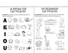 Actividades para todos: Actividades Vocales Preschool Spanish, Spanish Activities, Sorting Activities, Teaching Spanish, Summer Classes, Bilingual Education, Letter Recognition, Preschool Classroom, Classroom Ideas