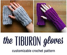 The Tiburon Gloves Christmas Presents For Men, Holiday Gifts, Fingerless Gloves Crochet Pattern, Crochet Hats, Hand Warmers, Make And Sell, Caps Hats, Etsy Store, Crocheting