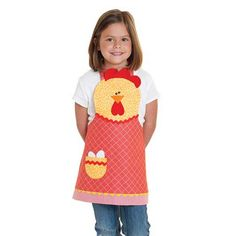 All little bakers, in my neck of the woods, need this!  A chicken apron!  (we are the Poultry Capital of the World so, don't you agree?!). :)