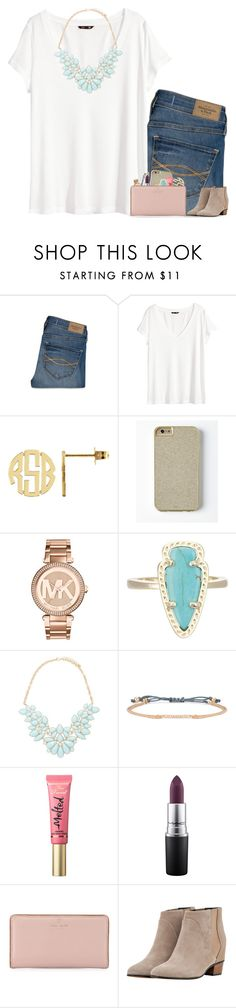 """""""Room Tag"""" by evieleet ❤ liked on Polyvore featuring Abercrombie & Fitch, H&M, Michael Kors, Kendra Scott, Forever 21, Stella & Dot, Too Faced Cosmetics, MAC Cosmetics, Kate Spade and Golden Goose"""