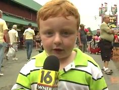 "CUTE KID WANTS TO BE ON TV THAT HE IS ""GAME ON"" WHEN IT COMES TO INTERVIEW!"